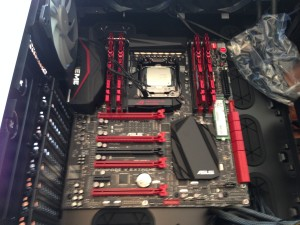 Motherboard installed in case